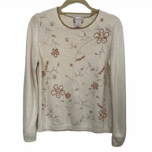 Vintage 90s Norther Reflections Oatmeal Sweater